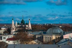 yaroslavl Εικόνα της αρχαίας ρωσικής πόλης, άποψη Στοκ Εικόνες