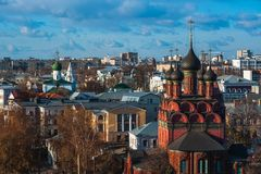 yaroslavl Εικόνα της αρχαίας ρωσικής πόλης, άποψη Στοκ εικόνα με δικαίωμα ελεύθερης χρήσης