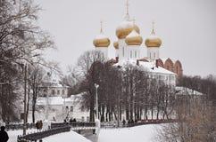 yaroslavl Bouw van de Veronderstellingskathedraal Royalty-vrije Stock Fotografie