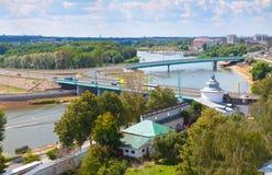 Yaroslavl with Kotorosl river Stock Photos