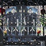 Yaroslavl, Leontiefskoe cmentarz Bracia Grobowcowi w nowym rosjanina stylu Zdjęcie Royalty Free