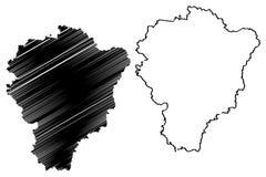 Yaroslavl Oblast mapy wektor ilustracji