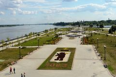 Yaroslavl. Park on the spit at at the confluence of Volga and Kotorosl. Stock Image