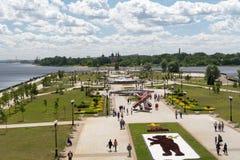 YAROSLAVL, RUSSIA - GIUGNO 2015: Lle celebrazioni dell'anniversario 1005 del fondamento della città Fotografie Stock Libere da Diritti