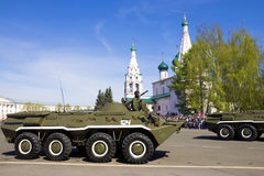YAROSLAVL, RUSSIA-MAY 9. military parade in honor of the victory Royalty Free Stock Images