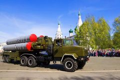 YAROSLAVL, RUSSIA-MAY 9. military parade in honor of the victory Stock Photos