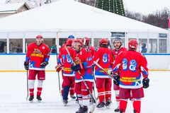 Yaroslavl, Russie - 6 janvier 2018 : l'étudiant Ice de tournoi Team Tekstilschik photo stock