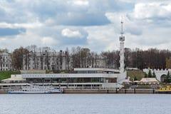 Yaroslavl rzeki stacja Obrazy Royalty Free