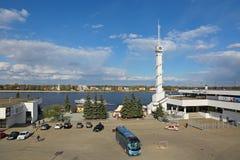 Yaroslavl rzeki stacja Zdjęcie Royalty Free