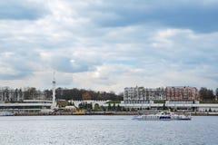 Yaroslavl rzeki stacja Zdjęcie Stock