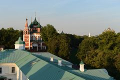 Yaroslavl. View from the bell tower. Stock Photo