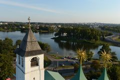 Yaroslavl. View from the bell tower. Stock Photos