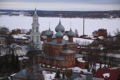 Yaroslavl. View of Yaroslavl at winter royalty free stock photos