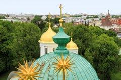 Yaroslavl vom Glockenturm Transfigurations-Kloster Stockbild
