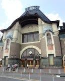 Yaroslavskiy railway station in Komsomolskaya square, Moscow Royalty Free Stock Images