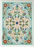 Yaroslavsky tile. Traditional folk painting Stock Photography