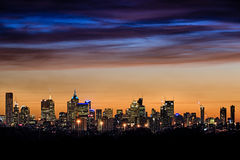 澳洲中心市财务墨尔本河地平线视图yarra 库存图片