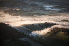 Yarra Dolinna mgła przy wschodem słońca obraz stock
