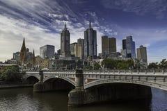yarra för sikt för Australien center finansiell melbourne flodhorisont Fotografering för Bildbyråer