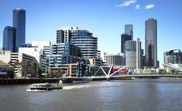 Yarra flod i Melbourne arkivbilder