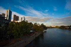 Yarra flod - Melbourne VIC Arkivfoton