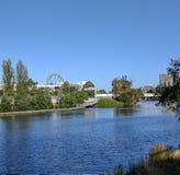 Yarra flod Melbourne Victoria Australia Arkivfoto