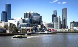 Yarra-Fluss in Melbourne stockbilder