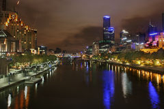 Yarra Fluss Southbank Melbourn Lizenzfreie Stockfotos