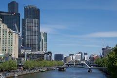 Yarra Footbridge nad Yarra rzeką w Melbourne, Australia Zdjęcia Royalty Free