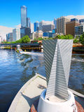 Yarra Promenade and Downtown Melbourne Stock Photography