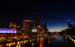 Yarra river front Royalty Free Stock Photo
