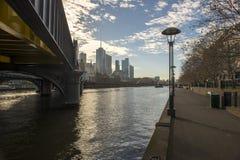 Yarra river in Melbourne Australia Stock Images