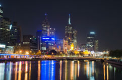 Yarra River, Melbourne City Skyline Royalty Free Stock Photography