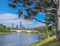Yarra River and Melbourne City Royalty Free Stock Photo