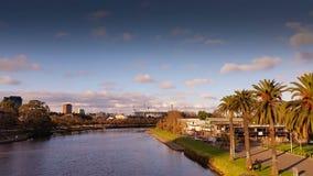 Yarra river- Melbourne City Victoria Australia stock video