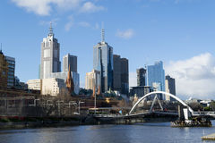 By the Yarra river in Melbourne Royalty Free Stock Photo