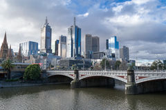 By the Yarra river in Melbourne Royalty Free Stock Images
