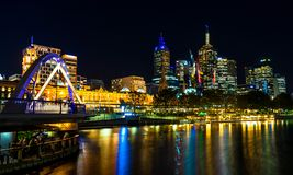 Yarra River Night Lights stock photos