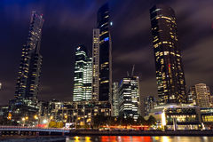 Yarra river nightview Royalty Free Stock Image