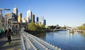 Yarra rzeka w Melbourne Obraz Stock