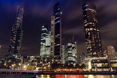 Yarra rzeki nightview Obraz Royalty Free