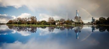 yarra rzeki panorama fotografia stock