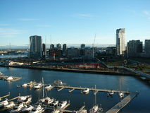 Yarra's Edge Marina. And Docklands Construction, Melbourne royalty free stock photography