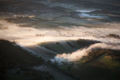 Yarra Valley Fog at Sunrise Stock Image
