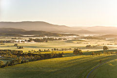 Yarra Valley in Victoria, Australia. Yarra Valley landscape in Victoria, Australia on a clear spring morning, seen from a hot air balloon Stock Images