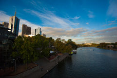 Yarrarivier - Melbourne VIC Stock Foto's