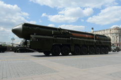 Yars or Topol-MR  is a Russian MIRV-equipped, thermonuclear weapon intercontinental ballistic mi Stock Photos