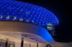 yas för Abu Dhabi hotellmarina Arkivfoto