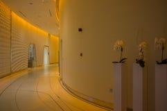 yas för Abu Dhabi hotellmarina Arkivfoton