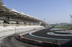 yas för uae för Abu Dhabi storslagna marinaprix Arkivfoton